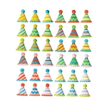 Small Party Hats Assortment Dec-Ons® (12 pieces)