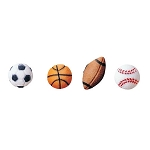 Sports Balls Assortment Dec-Ons® (16 pieces)