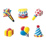 Mini Birthday Assortment Dec-Ons® (12 pieces)