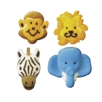 Jungle Animal Assortment Dec-Ons® (8 pieces)