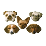 Small Dog Assortment Dec-Ons® (5 pieces)