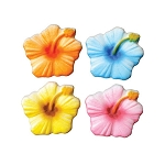 Hibiscus Assortment Dec-Ons® (4 pieces)