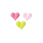 Small Bright Heart Royal Icing Assortment (24 pieces)