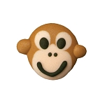 Monkey Royal Icing Decoration (6 pieces)