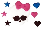 Monster High-Skullette and Hearts Edible DecoSet® (7 piece)