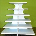 Square 6 Tier Cupcake Stand