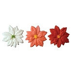 Multi-Colored Poinsettia Sugars 6 pieces