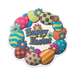 Happy Easter Egg Wreath Layon