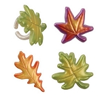 Multicolor Leaves Rings