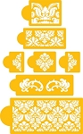 Damask Stencil Set 5 Tier