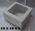 10x10x6 White Window Box