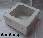 6x6x4 White Window Box
