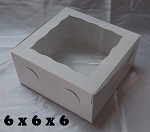 6x6x6 White Window Box