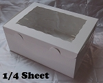 10x14x6 (Quarter Sheet) White Window Box