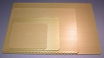 Quarter Sheet Gold Scalloped Cake Board