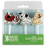 Dog Shaped Candles 6pk