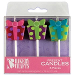 Present Shaped Candles 6pk