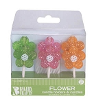Flower Candle Holder and Candles 6pk