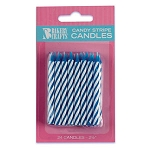 Blue Candy Stripe Candle 2 Dozen