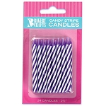 Purple Candy Stripe Candle 2 Dozen