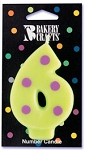 Dotted Number Candle