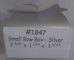 Silver Small Bow Box- 3pk