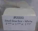 White Small Bow Box- 3 pk