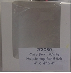 Cube Candy Box with Window and Stick Hole- 3pk
