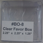 Clear Favor Box 6pk