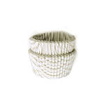 Gold Striped Mini Baking Cups(100 Cups)