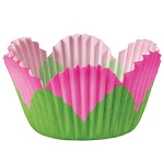 Mini Pink Petal Baking Cups (48 cups)