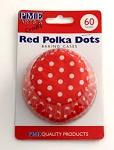 Red Polka Dots Standard Baking Cases (60 cups)