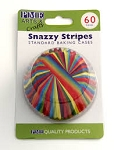 Snazzy Stripes Standard Baking Cases (60 cups)
