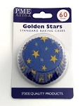Golden Stars Standard Baking Cases (60 cups)