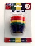 Carnival Mini Baking Cases (100 cups)