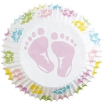 Baby Feet Baking Cups