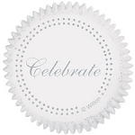 Silver Celebrate Baking Cups (75 Cups)