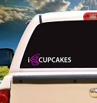 I Love/Eat Cupcakes- Decal
