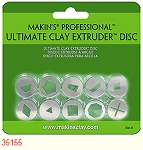 Makins 10 Piece Clay Extruder Discs Set A