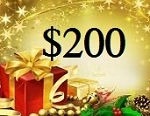 $200 Gift Card (ONLINE USE ONLY. NO EXCEPTIONS)