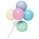 Pastel Colored Balloon Cluster