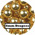 Extra Large Gold Dragees 2 oz. (8mm)