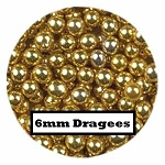 Large Gold Dragees 2 oz. (6mm)