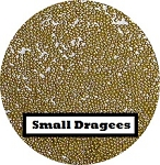 Small Gold Dragees 2 oz. (2mm)