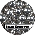 Extra Large Silver Dragees 2 oz. (8mm)