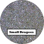 Small Silver Dragees 2 oz. (1mm)