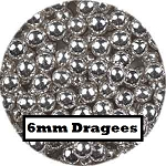 Large Silver Dragees 2 oz. (6mm)