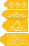 Princess Lace set stencil