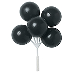 Black Balloon Clusters DecoPics®