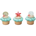 Sea Shell Cupcake Rings- 12